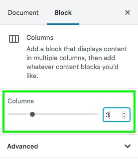 Column number