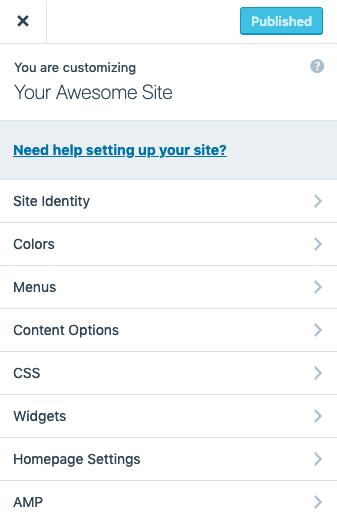 WordPress.com customizer