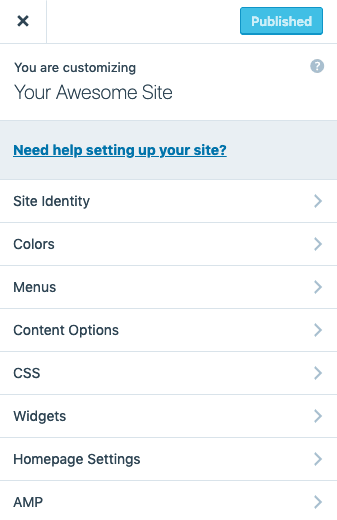 WordPress.com customizer