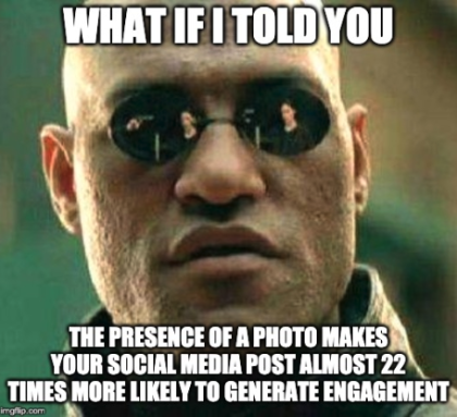 images in social media meme example — Matrix