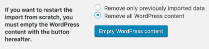 remove WordPress content