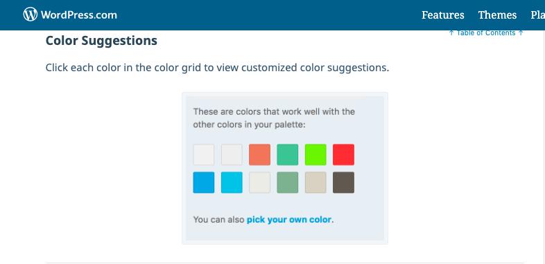 Custom color selector