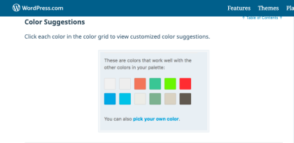 Custom color selector