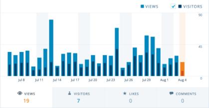 visitor stats on WordPress.com