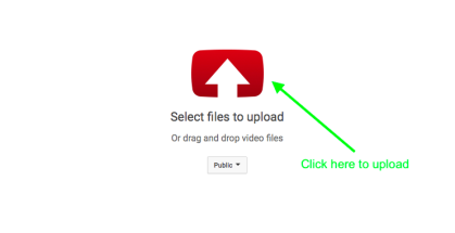 upload video file to YouTube