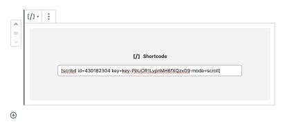 Scribd shortcode