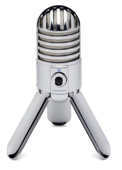 The Samson Meteor is a great microphone for the hobbyist podcaster.