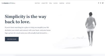 minimalist website color palette