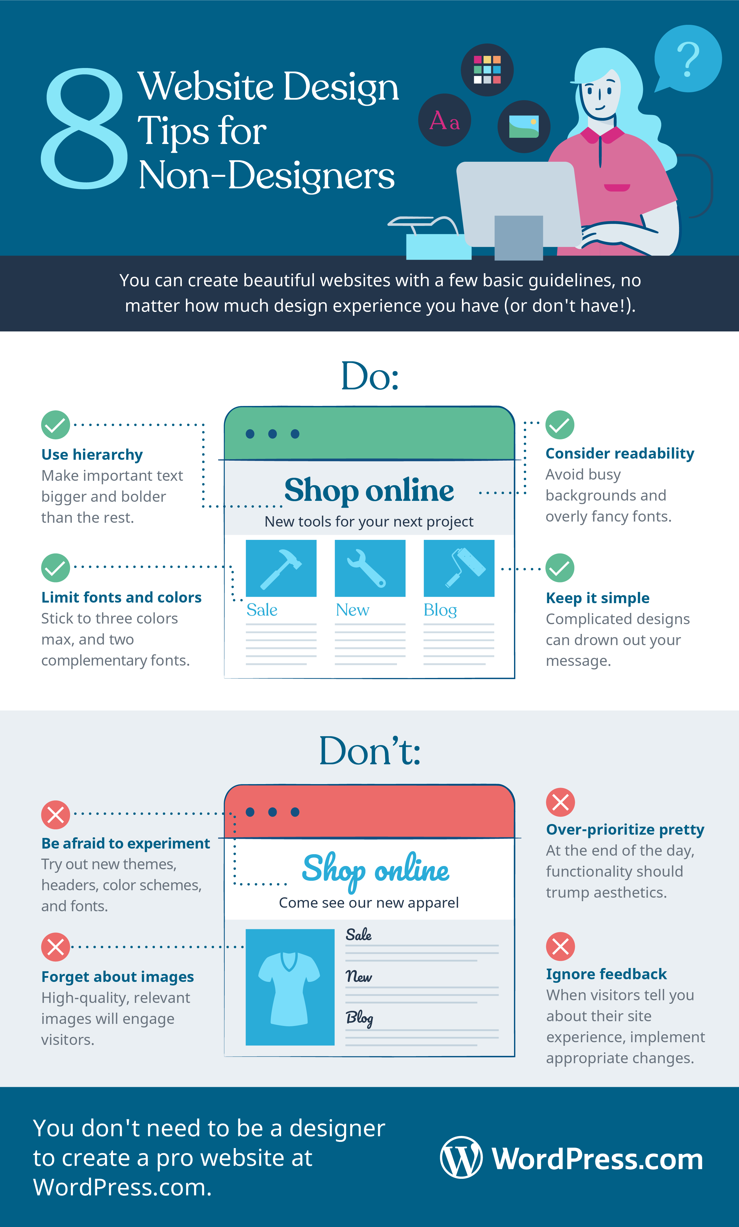 Website Design Best Practices and Tips for Non-Designers Infographic