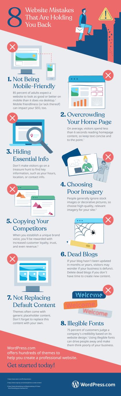 8 common website mistakes