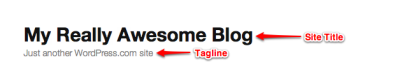 WordPress.com Site Title and Site Tagline
