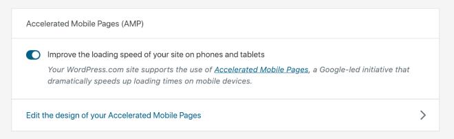 AMP feature on WordPress.com