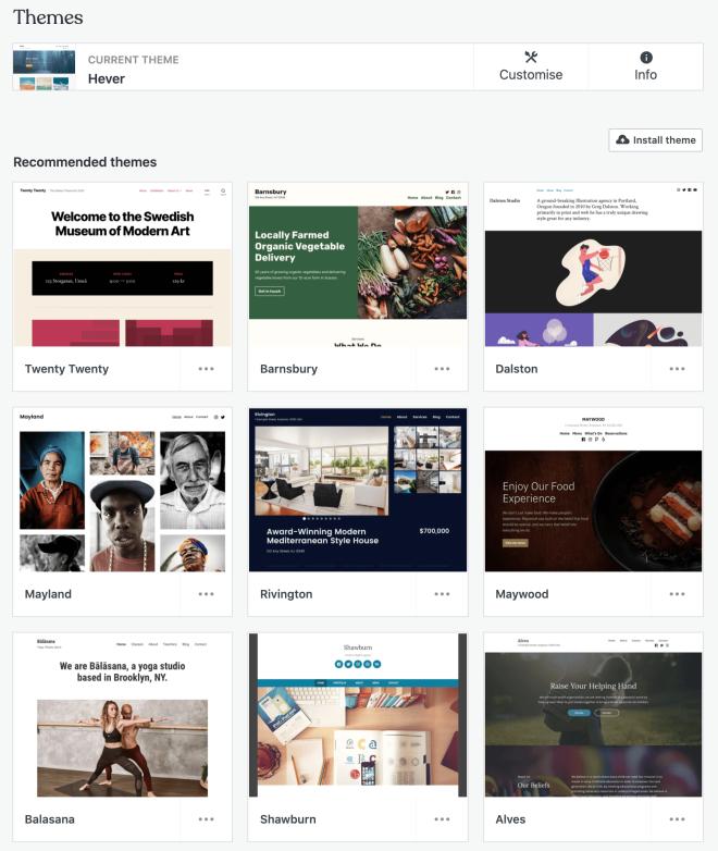 WordPress theme collection