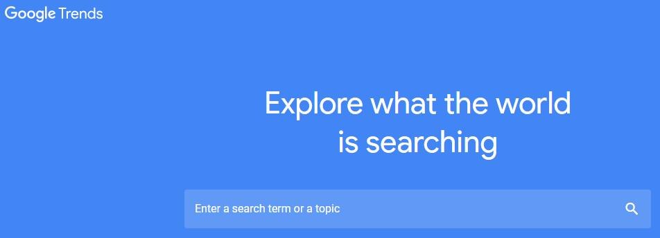 Google Trends screen