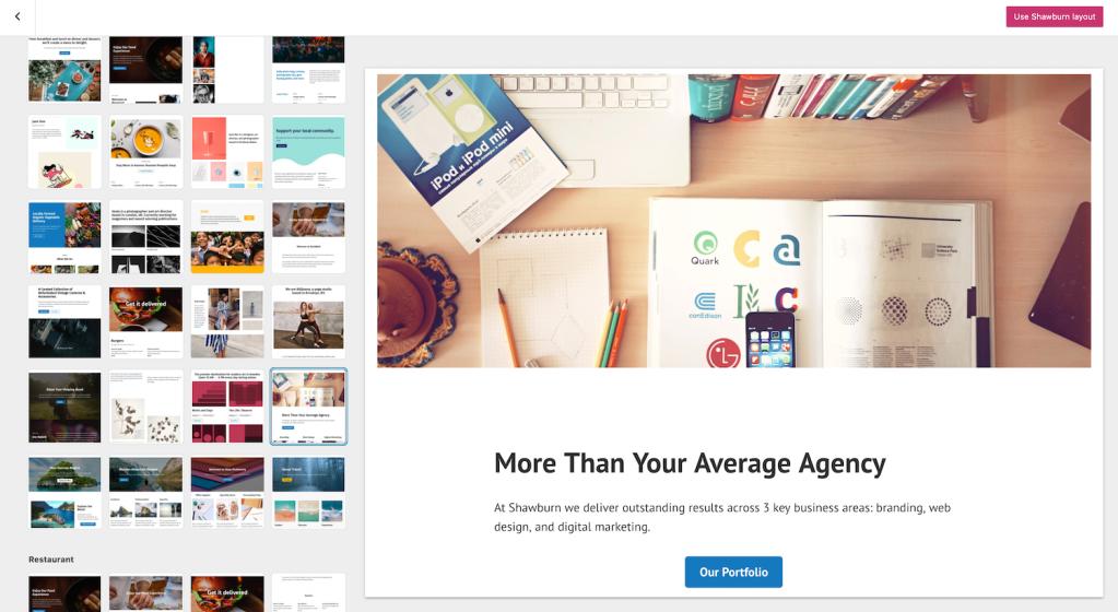 WordPress.com page layouts
