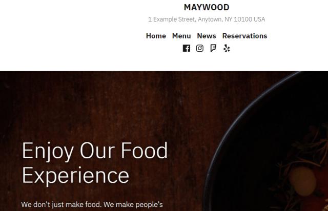 Maywood theme