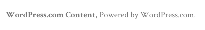 Powered by WordPress.com footer credit