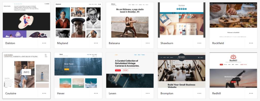 WordPress Photography Templates