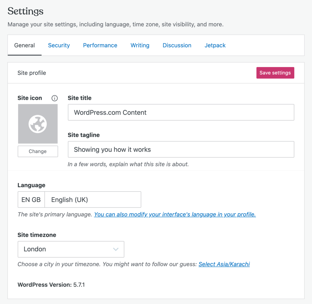 changing your favicon in WordPress settings